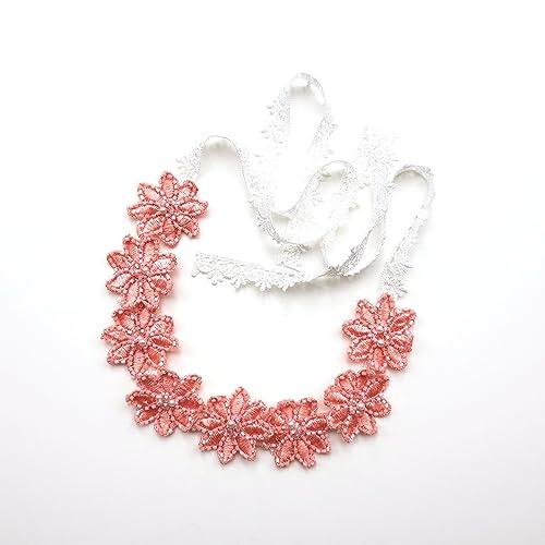 Amazon.com  Savvi Jewels Pink Flower Crown 750531d7cb5