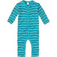 WELLYOU, Pijamas, Pijamas para niños y niñas, una Pieza de Manga Larga, niños pequeños, Color Azul Turquesa con Rayas…