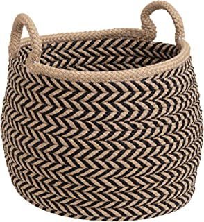 "product image for Colonial Mills Preve Basket, 18""x18""x17"", Taupe & Black"