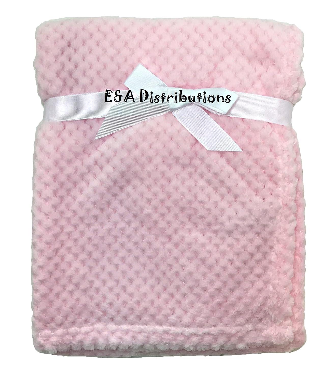 Pink Waffle Fleece Blanket Wrap