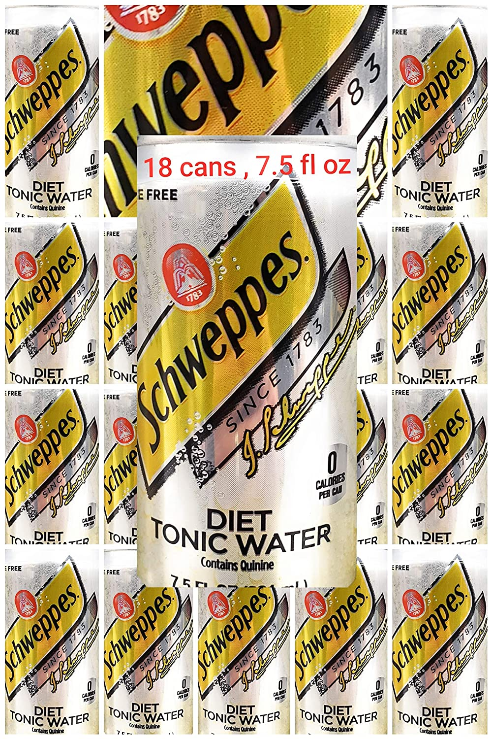 mini cans diet tonic water