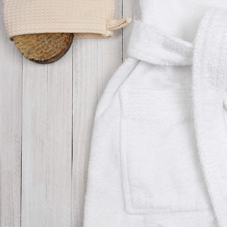 Kids Teenagers Girls Boys Hooded Robe Unisex 100/% Turkish Cotton Terry Bathrobe