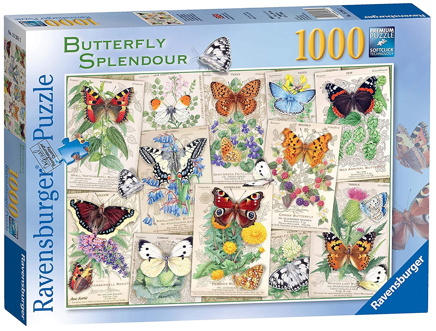 Ravensburger Butterfly Splendours 1000pc Jigsaw Puzzle