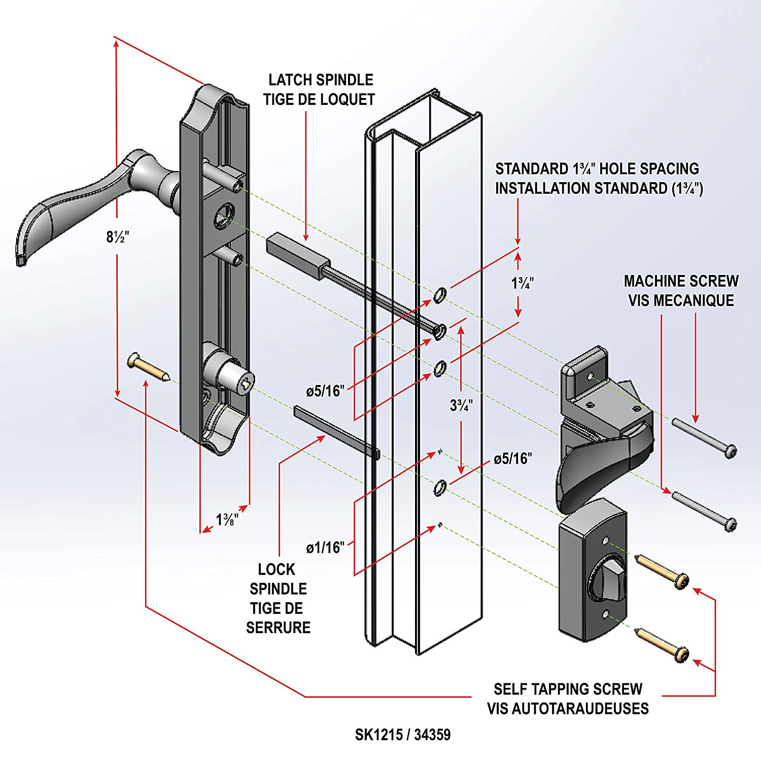 Images of Storm Door Handle Set Replacement - Woonv.com - Handle idea