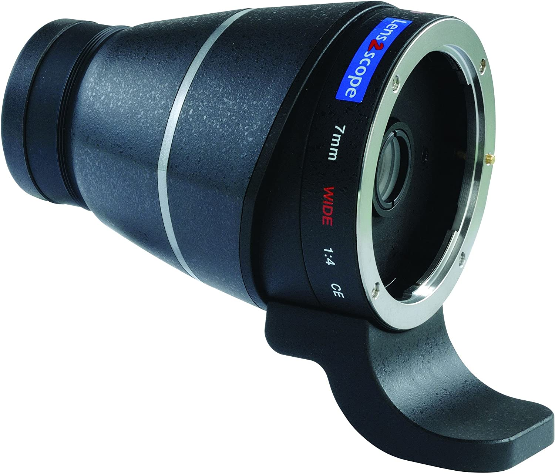 Lens2scope Oculaire renvoi non coud/é pour Canon EOS grand champ 7mm Wide noir