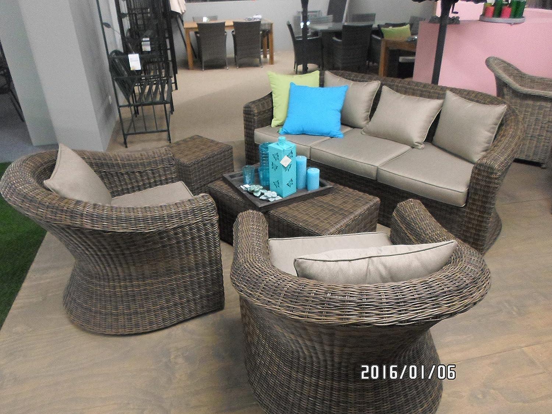 Lounge set gartenm bel coco marron polyrattan 5 teilig for Gartenmobel hochwertig