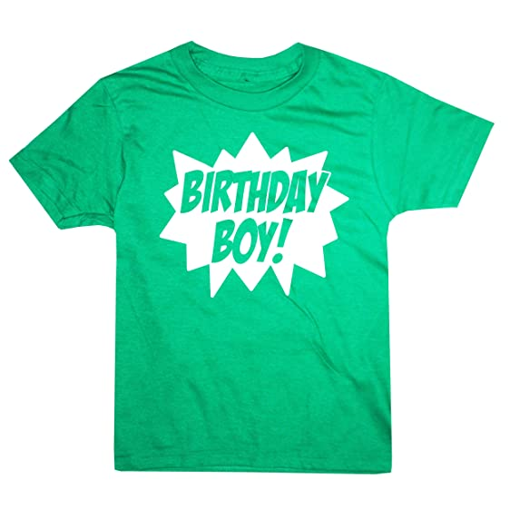 Happy Family Clothing Big Boys Superhero Birthday Boy T Shirt Youth M 10