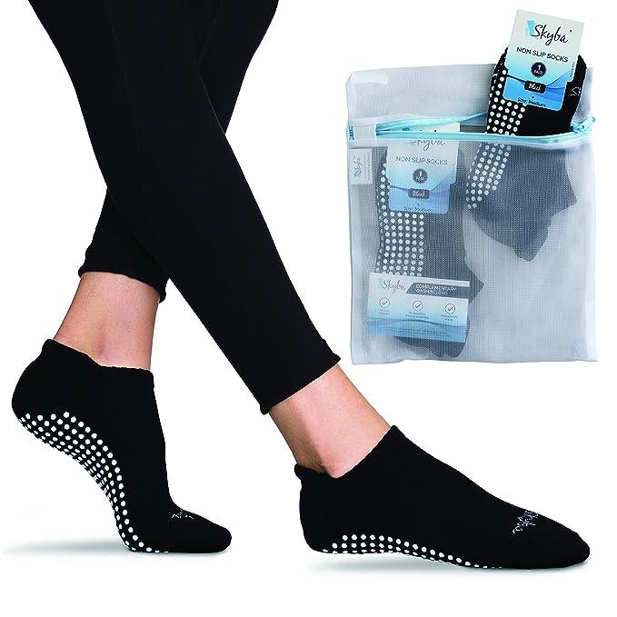 Skyba Calcetines Antideslizantes Para Mujer Hombre - Barre, Yoga, Pilates, Rehabilitación En Hospital