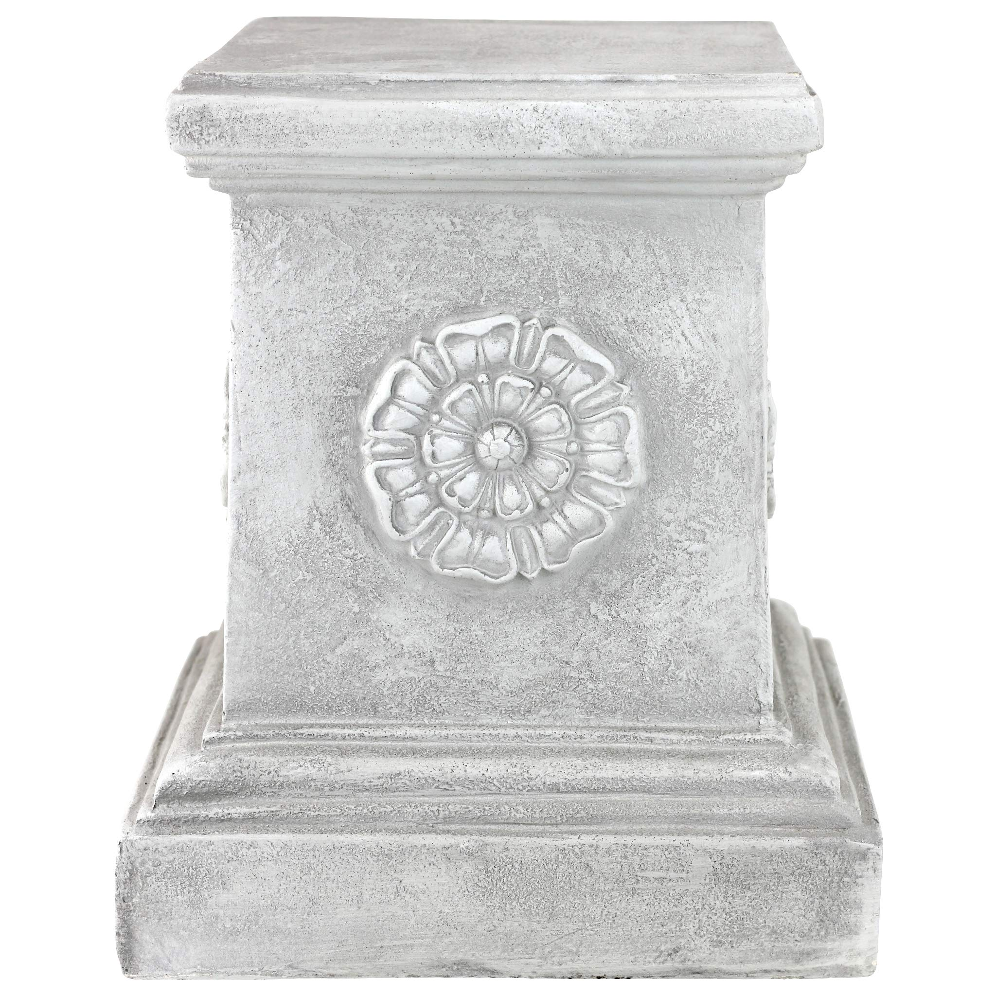 Design Toscano English Rosette Sculptural Garden Plinth Base Riser, Large 13 Inch, Polyresin, Antique Stone by Design Toscano (Image #3)