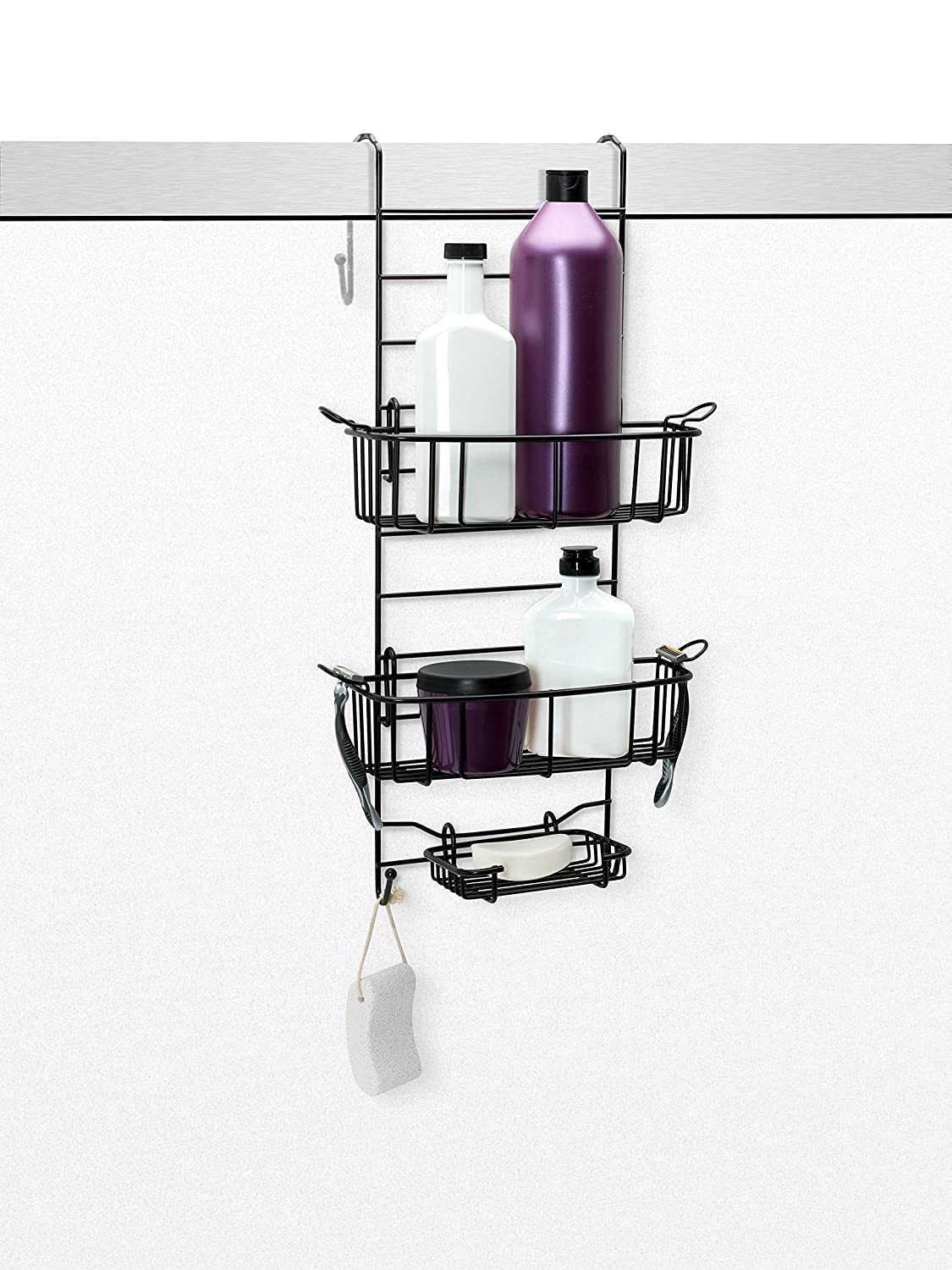 Amazon.com: Zenna Home E7803HB, Over-the-Shower Door Caddy, Heritage ...