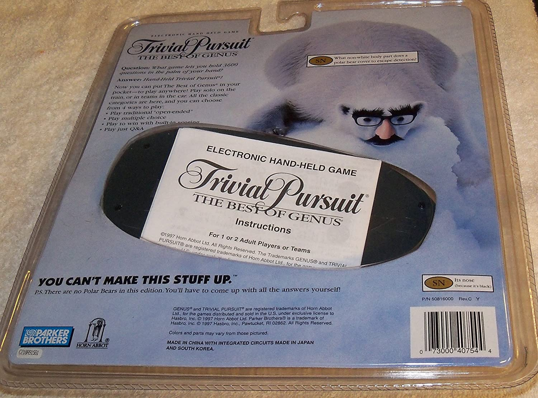 Amazon.com: Trivial Pursuit El mejor de GENUS: Toys & Games