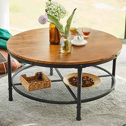 CO-Z 36″ Round Coffee Table
