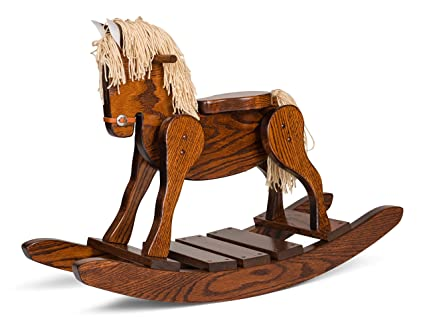 amazon com amish made wooden rocking horse for toddlers and kids
