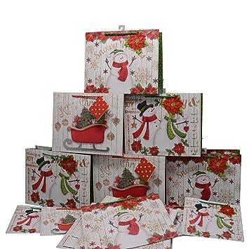 Amazon.com: Bolsas de regalo de Navidad pequeñas y medianas ...