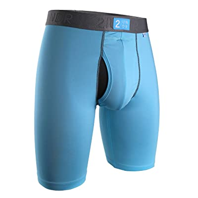2UNDR Power Shift Long Leg Boxer Briefs,Light Blue,Large