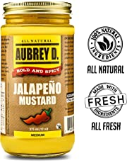 Classic Peppery Spiced Jalapeno Mustard Seasoning by Aubrey D; Cook, Dip or Lick for The Meanest Mustard Flavor! 12 oz x 1