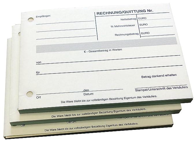 Block - Cuaderno de recibos - Por bloque 100 hojas DIN A6 - perforadas - (22297): Amazon.es: Oficina y papelería