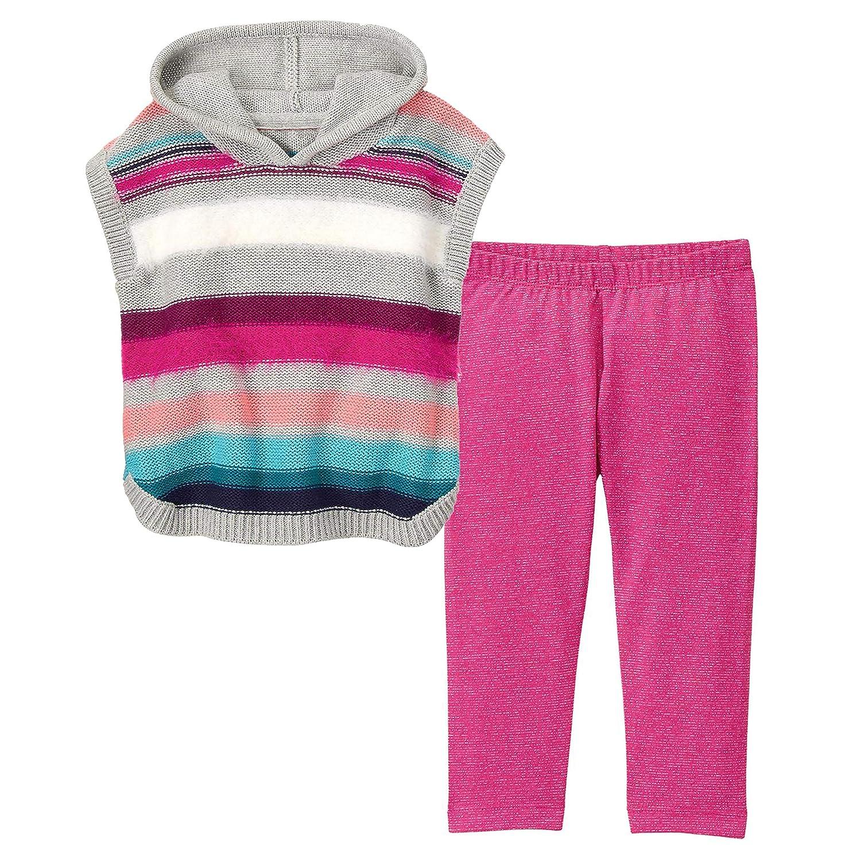 Gymboree Girls 2-Piece Bundle Fuzzy Striped Poncho /& Sparkle Leggings Set 5T