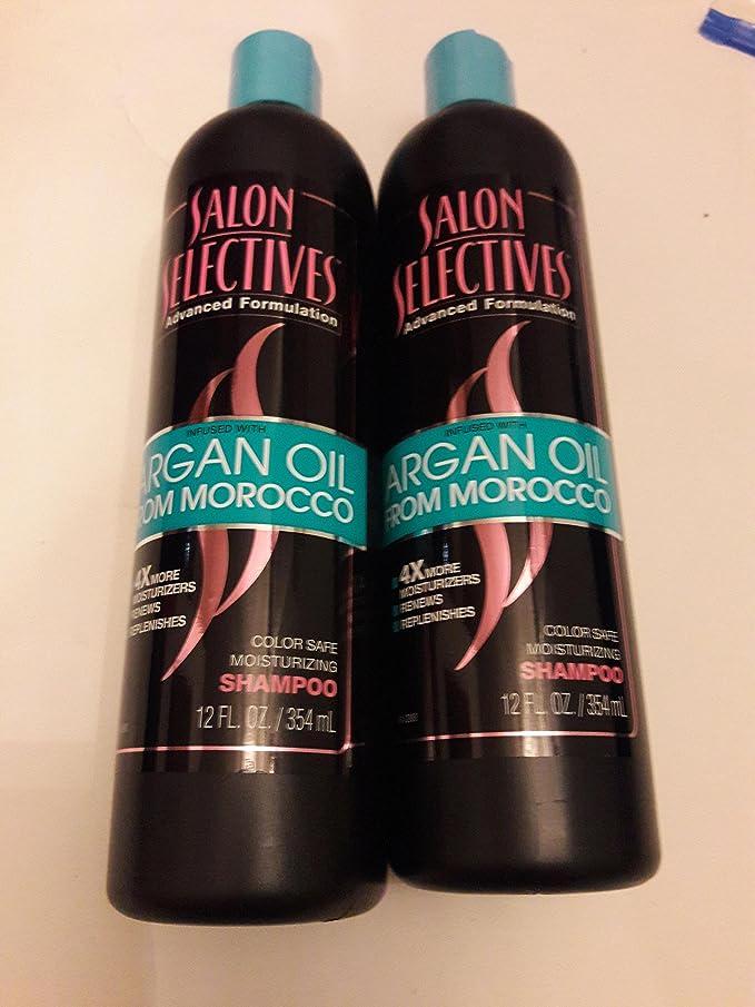 2x Total - Salon Selectives Argan Oil From Morocco Color Safe Moisturizing Shampoo