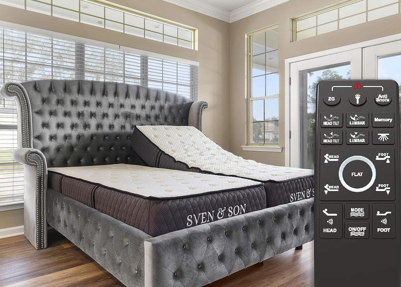 Amazon Com Sven Son Split King Adjustable Bed Base Frame