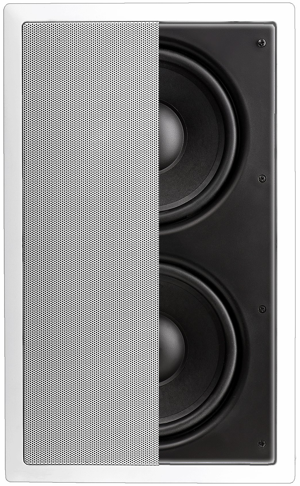 OSD Audio IWS88 In-Wall 350W Home Theater Subwoofer Dual 8-Inch Injected Woofers w/Back Bridge to Enhance Bass