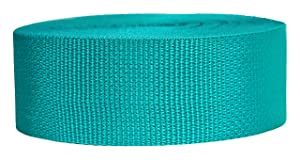 Strapworks Lightweight Polypropylene Webbing - Poly Strapping for Outdoor DIY Gear Repair, Pet Collars, Crafts – 2 Inch x 25 Yards - Teal