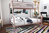 Novogratz Maxwell Twin/Full Metal Bunk Bed, Sturdy