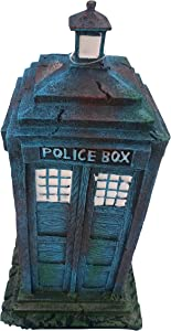 Old Style 1960's Police Box Aquarium Ornament Decor Fish Safe Polyresin
