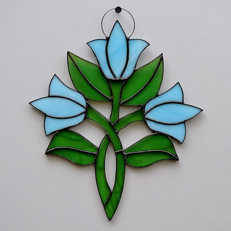 Fused glass flower suncatcherwall hanging