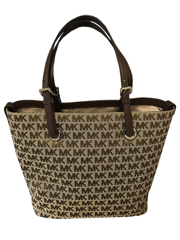 9948004680a5 Amazon.com: Michael Kors Jet Set MK Signature Grab Bag Tote Handbag ...