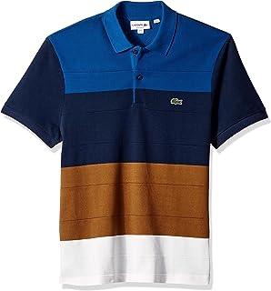 31aac54f Lacoste Men's Short Sleeve Color Block Life Stripe Pique Classic ...
