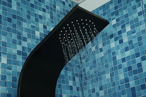DP Grifería - Columna de ducha hidromasaje para baño (aluminio) color negro modelo Santorini: Amazon.es: Bricolaje y herramientas