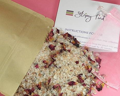 1 kg petali di rosa e lavanda minerale sali da bagno soak con sale