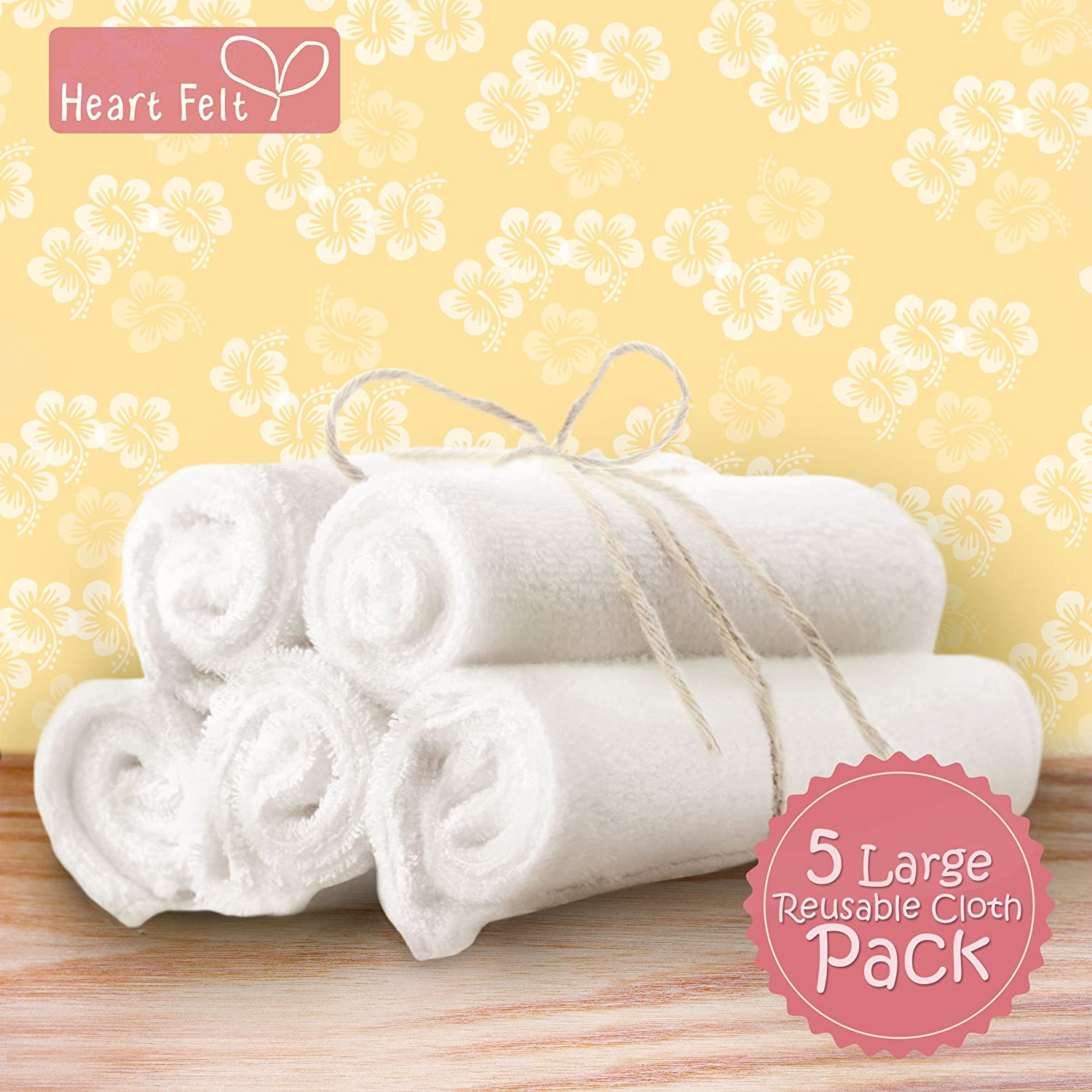 Amazon Heart Felt Natural Baby Wipes 5 Extra large