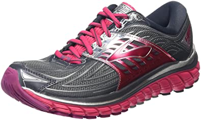 33765ac40cb Brooks Women s Glycerin 14 Anthracite Azalea Silver Sneaker 6 2A - Narrow
