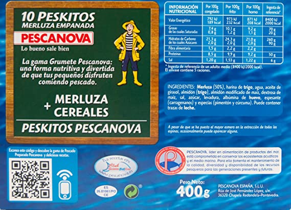Pescanova - Peskitos, Merluza empanada: Amazon.es: Alimentación y bebidas