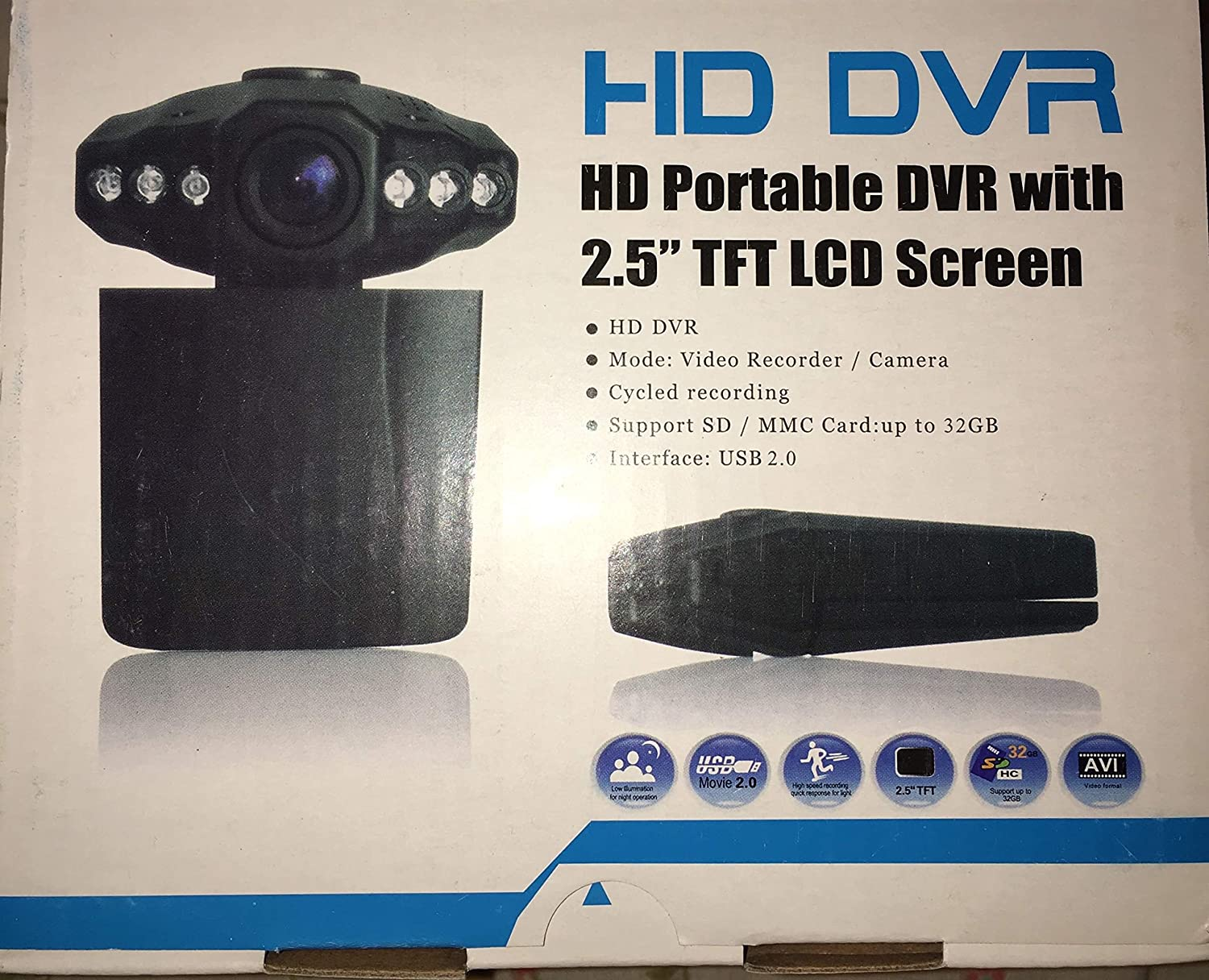 HD PORTABLE DVR WITH 2.5 TFT LCD SCREEN TREIBER