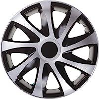 """DRACO CS, wieldop, zwart/zilver, set van 4 13"""" inch zwart, zilver"""