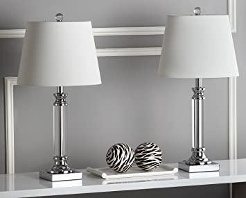 Safavieh Lighting Collection Zara Crystal 23.5 Inch Table Lamp (Set Of 2)