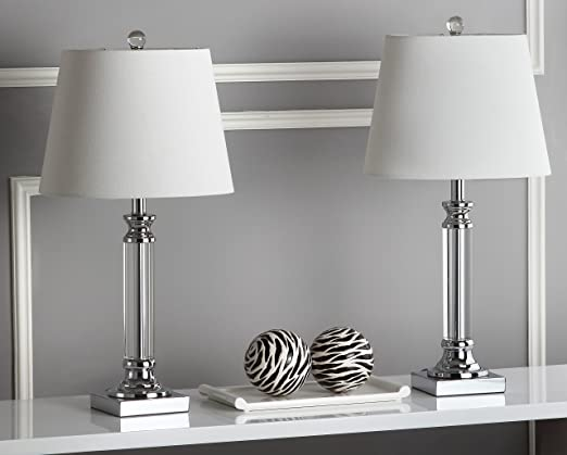 Safavieh Lighting Collection Zara Crystal - Lámpara de Mesa (60 cm ...