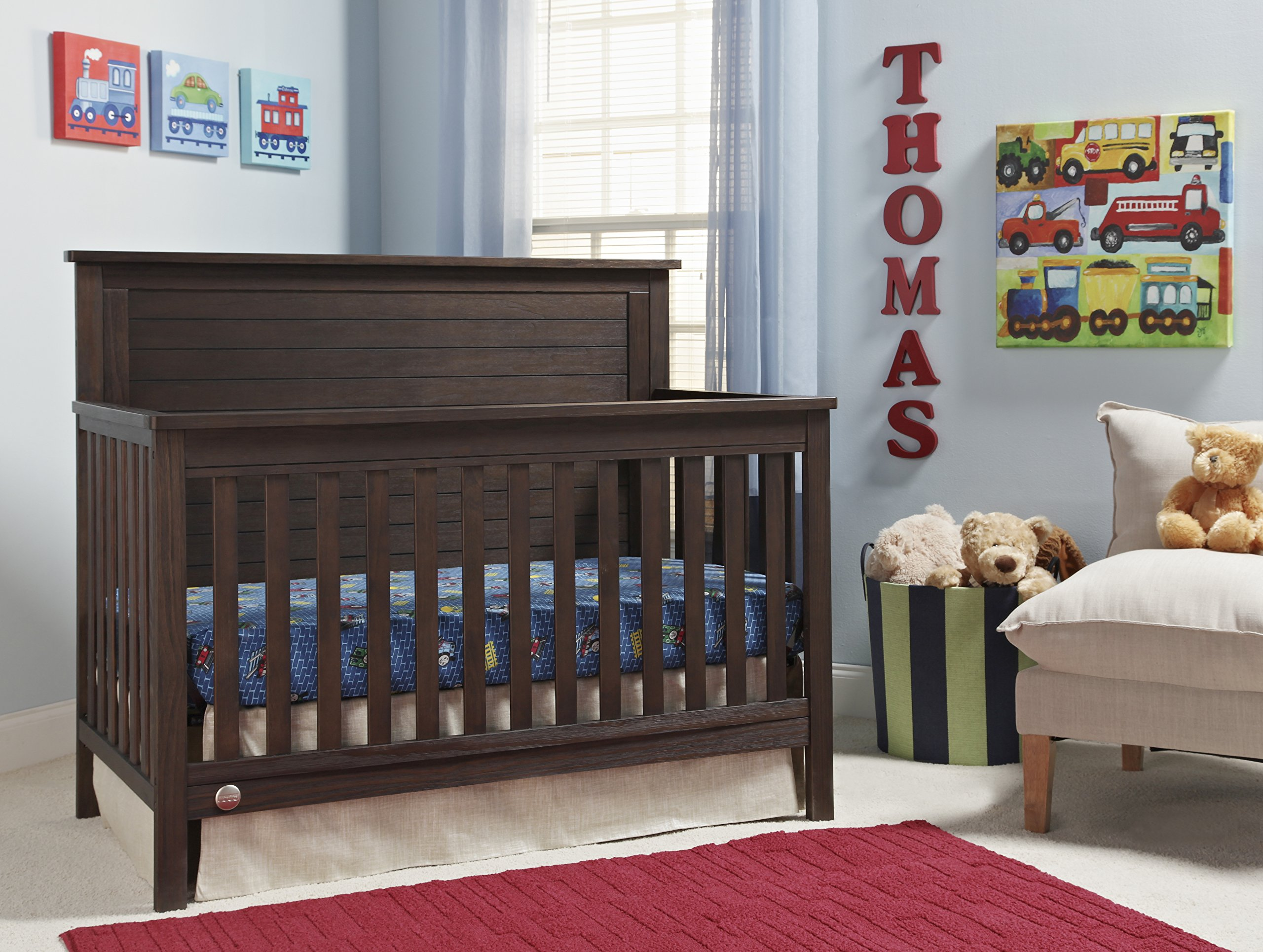 Fisher-Price Quinn 4 in 1 Convertible Crib, Wire Brushed Brown by Fisher-Price (Image #2)