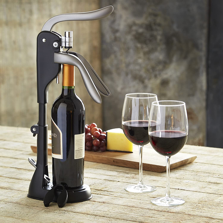 Refinery Tabletop Corkscrew Wine Opener Black