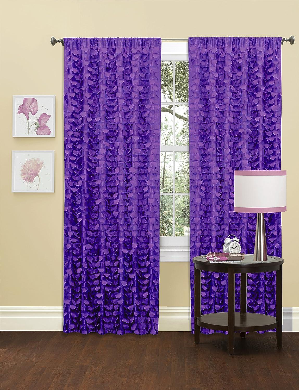 Lush Decor Gigi Single Window Curtain Panel, 84