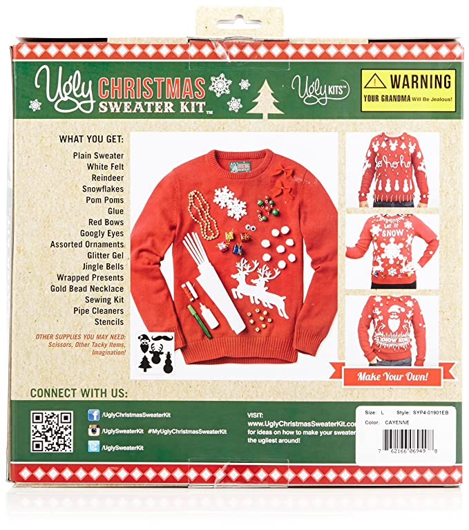 Ugly Christmas Sweater Mens Make Your Own Ugly Christmas Sweater At