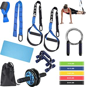 BoYun All-in-ONE Suspension Training,Home Gym,Bodyweight Resistance System,Full Body Workouts for Home, Travel, and Outdoors,Build Muscle, Burn Fat, Improve Cardio,Free Workouts Included
