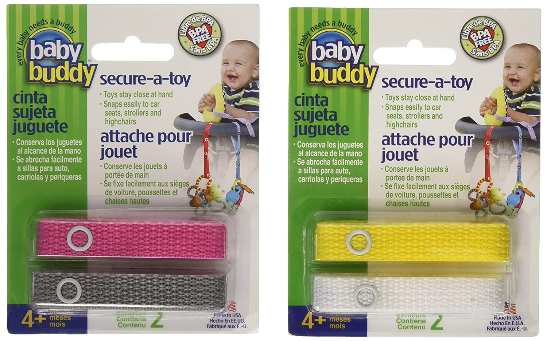 Baby Buddy Secure-A-Toy Safety Strap, Girls 40151GRL