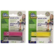 Baby Buddy Secure-A-Toy Safety Strap, Girls, 2 Count (Pack of 2)