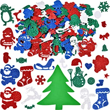 Christmas Wall Window Decor Card Making 20 x Santa stickers Giftwrapping