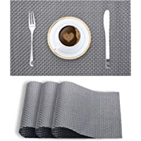 Smile Mom Table Place Mats for Dining Table Piece PVC, Washable/Anti-Skid