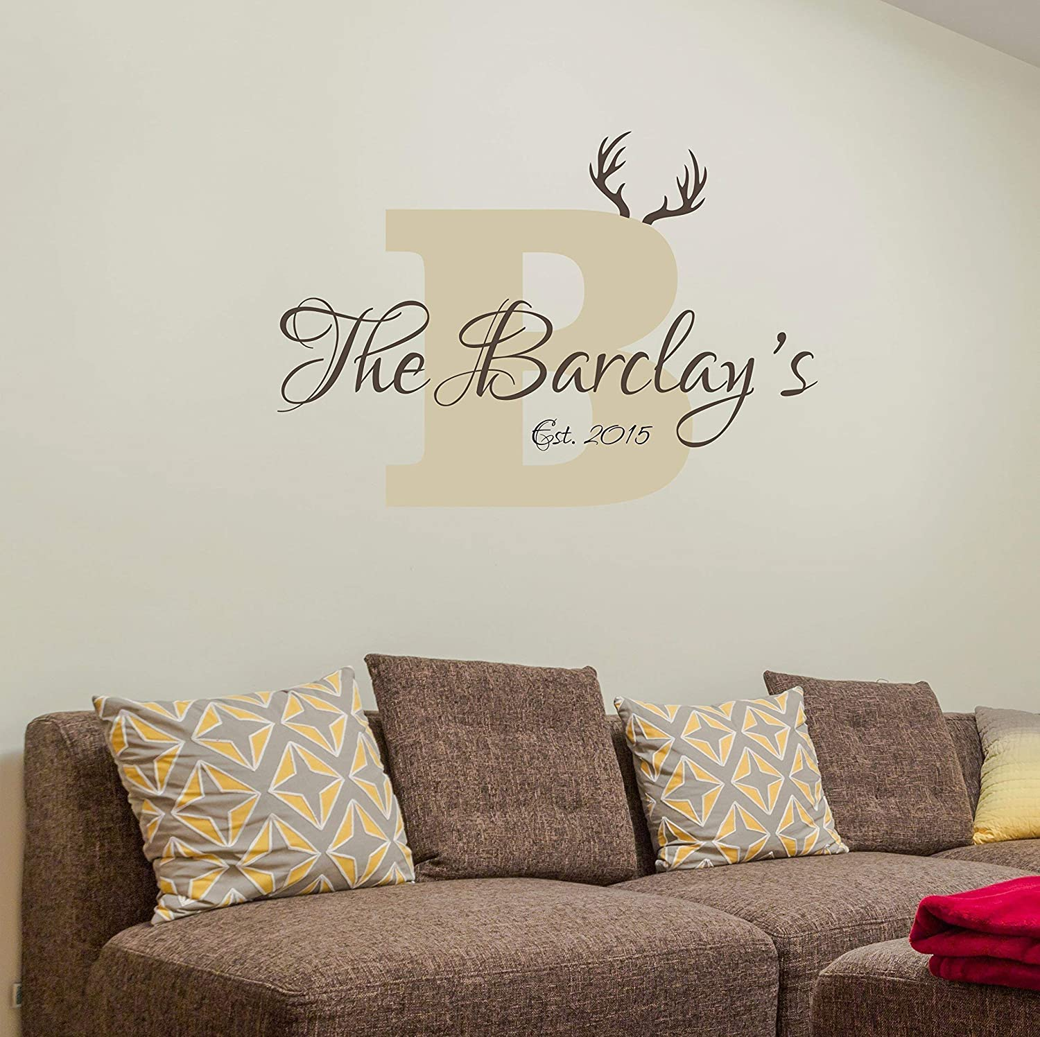 Personalized Name Wall Sticker Monogram Stencil Custom Family Name Wall Decal Custom Name Wall Sign